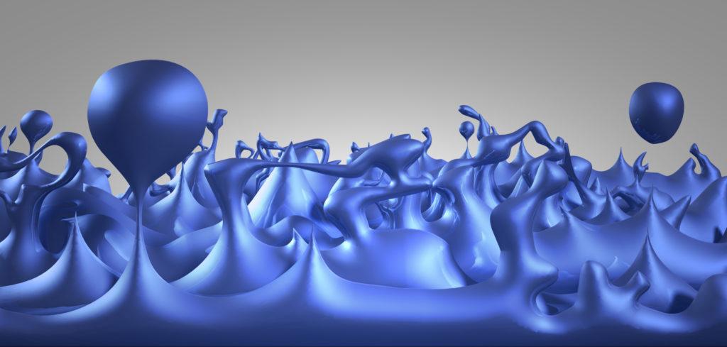 Quantum foam illustration