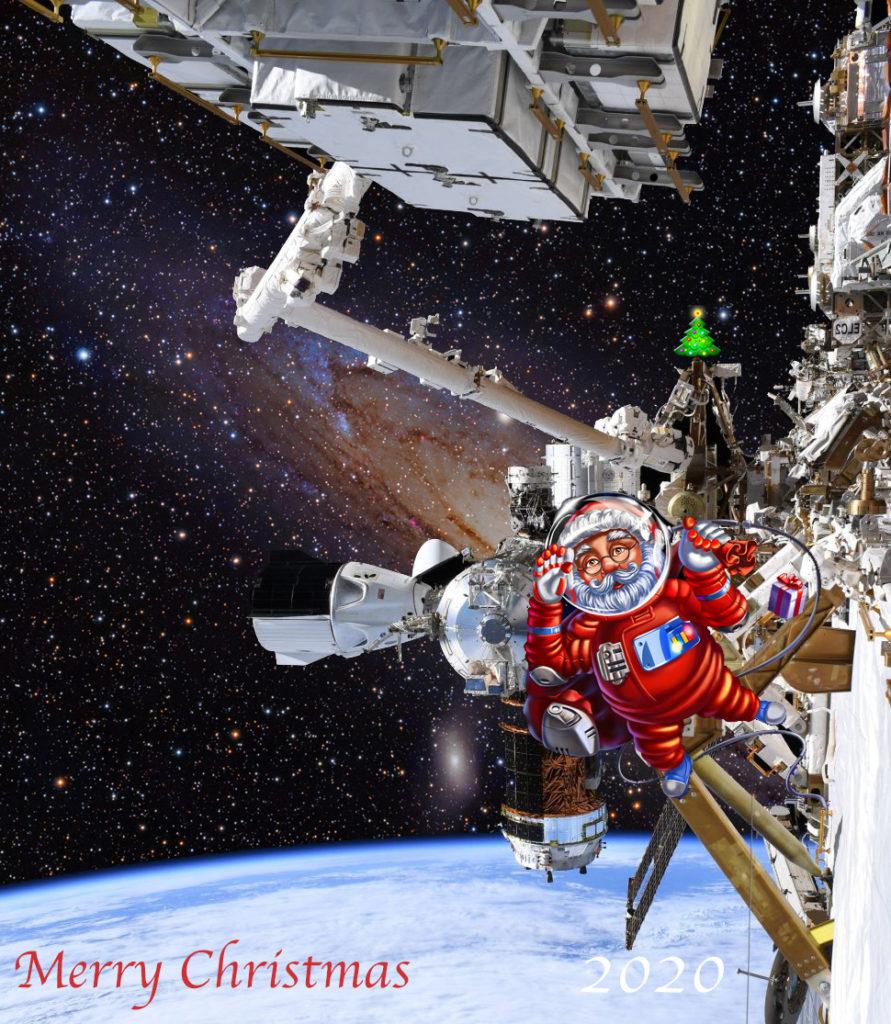 Santa-in-Space montage 2020
